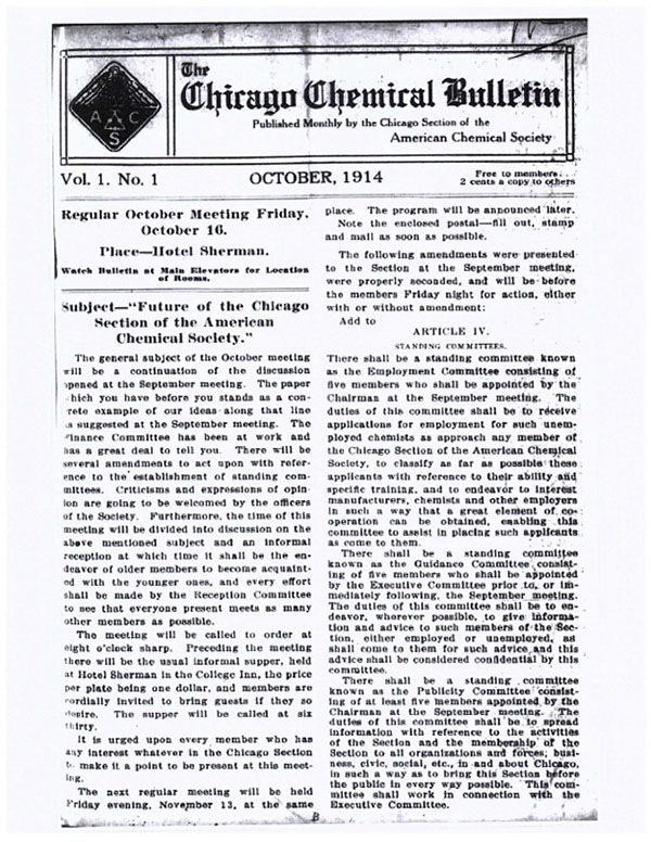 first issue of the Chemical Bulletin